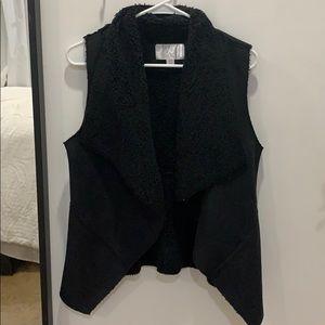 Black teddy vest